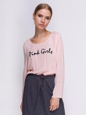 Блуза розовая в горох | 3966914