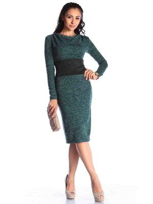 Платье темно-изумрудного цвета | 4465712