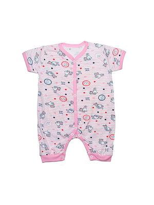 Пісочник рожевий в смужку з принтом | 4466021