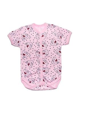 Боди розовое с принтом   4466031