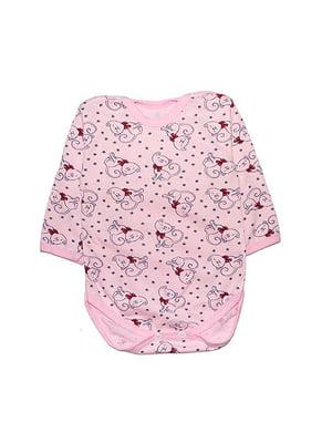 Боді рожеве з принтом | 4466033
