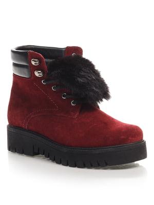 Ботинки бордовые   4454108