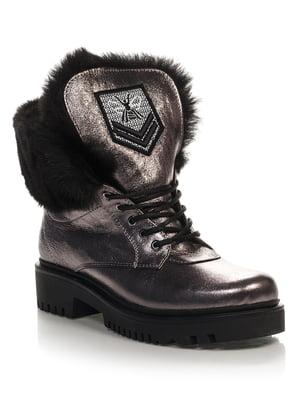 Ботинки серебристого цвета | 4421119