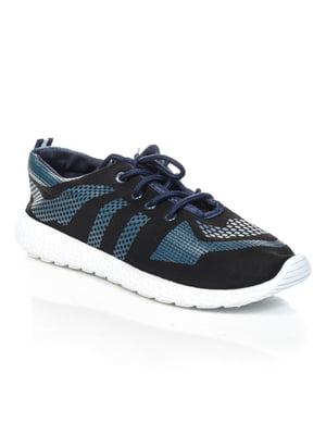 Кроссовки черно-синие | 4463211
