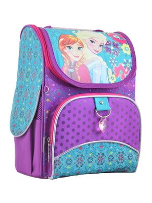 Рюкзак бузковий з принтом | 4235622
