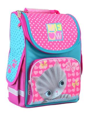 Рюкзак рожевий з принтом | 4235635