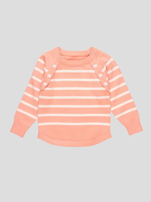 Джемпер рожевий в смужку | 4457166