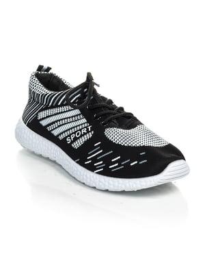 Кроссовки черно-белые | 4463232