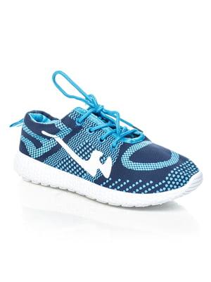 Кроссовки сине-голубые | 4463228