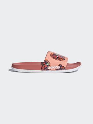 Шлепанцы розовые в цветочный принт | 4460622