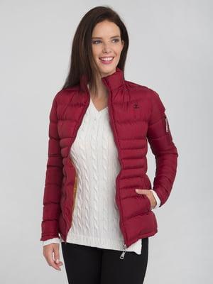 Куртка бордовая | 4488858