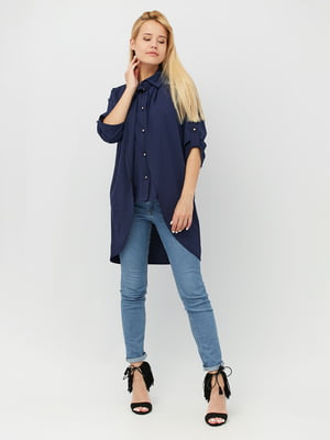 Блуза темно-синя | 4488971
