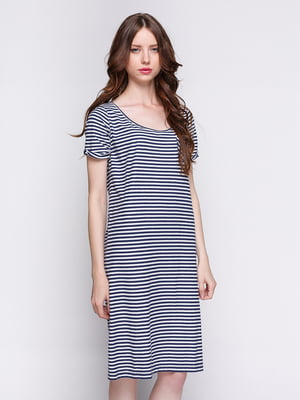 Сукня біло-синя в смужку | 2191584