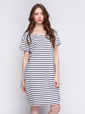 Платье белое в полоску | 4263262