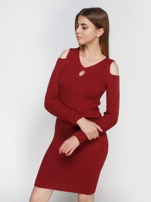 Платье бордовое | 4480751