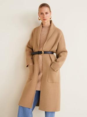 Пальто цвета кэмел | 4489387