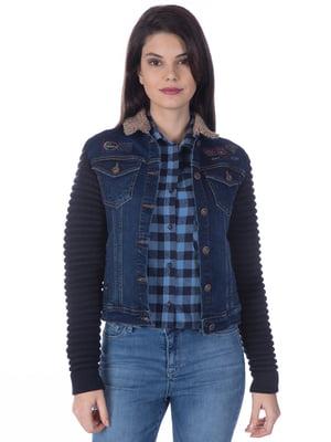 Куртка синяя джинсовая | 4138777