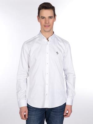 Рубашка белая в полоску | 3989588