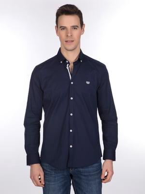 Рубашка темно-синяя | 3989594
