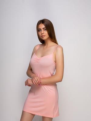 Рубашка ночная персикового цвета | 4480280
