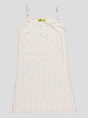 Сорочка нічна біла в принт   4487534