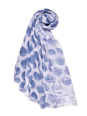 Палантин синий в горох | 4490907