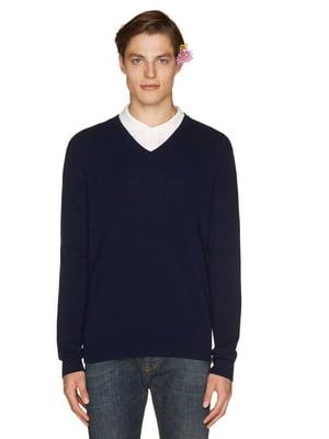 Пуловер темно-синий   4407570