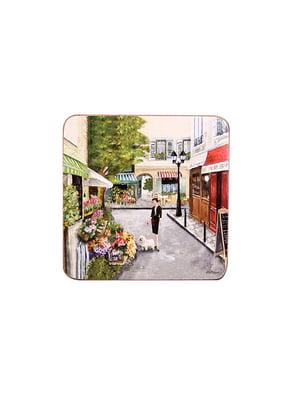 Набор подставок под горячее «Улицы Парижа» (4 шт., 11х11 см) | 4492997