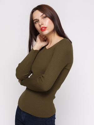 Пуловер цвета хаки | 4480636