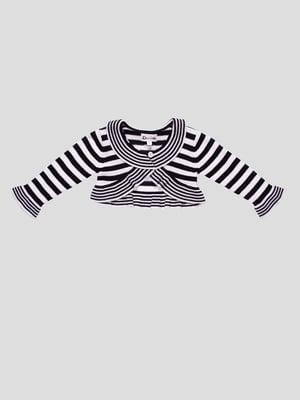 Болеро чорно-біле в смужку | 3862636