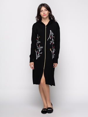 Платье черное с принтом | 4481336