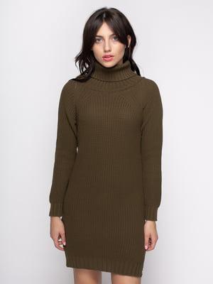 Платье цвета хаки | 4481118