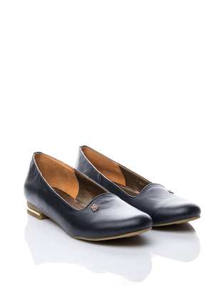 Туфлі сині з декором | 1653557
