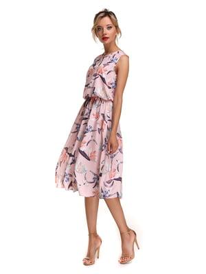 Сукня рожева в принт | 4497387