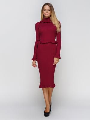 Платье бордовое   4480779
