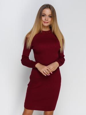 Платье бордовое   4480921