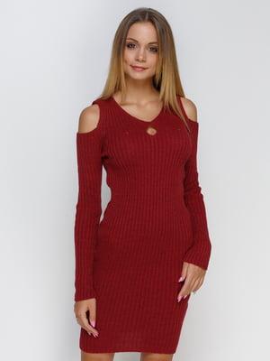 Платье бордовое | 4480825
