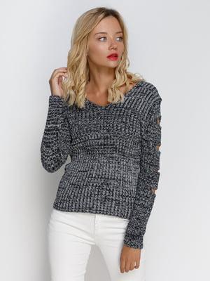 Пуловер двухцветный   4480840
