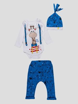 Комплект: боди, брюки и шапочка | 4488715