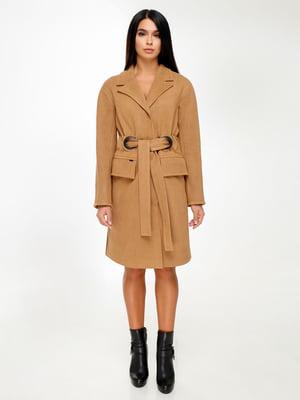 Пальто коричневе | 4498641