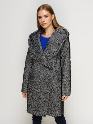 Пальто черное комбинированное | 4492638