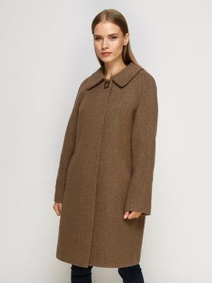 Пальто коричневе | 4492617