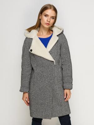 Пальто черно-белое | 4492609