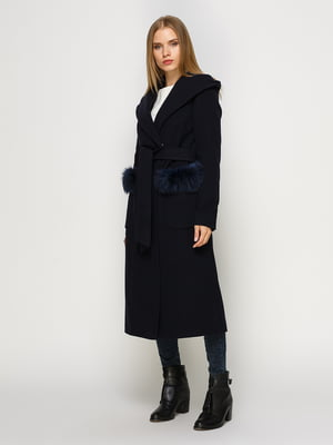 Пальто темно-синее | 4492641