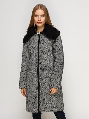 Пальто черно-белое | 4492636