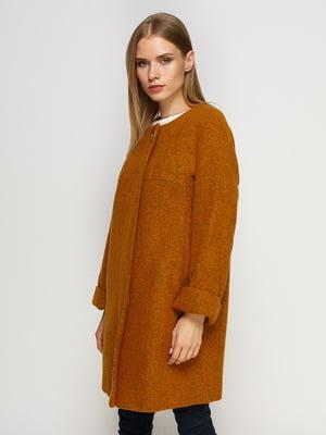 Пальто горчичного цвета | 4492599