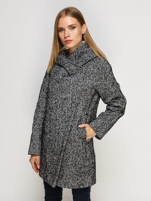 Пальто черно-белое | 4492629