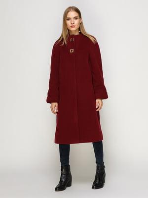 Пальто вишневого цвета | 4492611