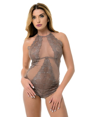 Блуза-боди коричневая | 4498975