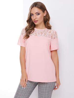 Блуза цвета пудры | 4499117